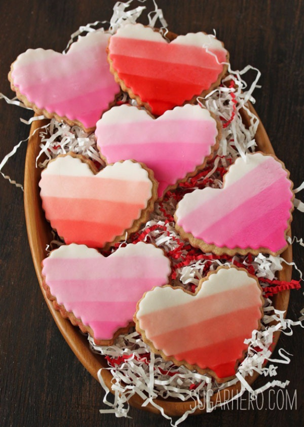 DIY Valentines Day Cookies - Brown Butter Heart Cookies - Easy Cookie Recipes and Recipe Ideas for Valentines Day - Cute DIY Decorated Cookies for Kids, Homemade Box Cookies and Bouquet Ideas - Sugar Cookie Icing Tutorials With Step by Step Instructions - Quick, Cheap Valentine Gift Ideas for Him and Her http://diyjoy.com/diy-valentines-day-cookie-recipes
