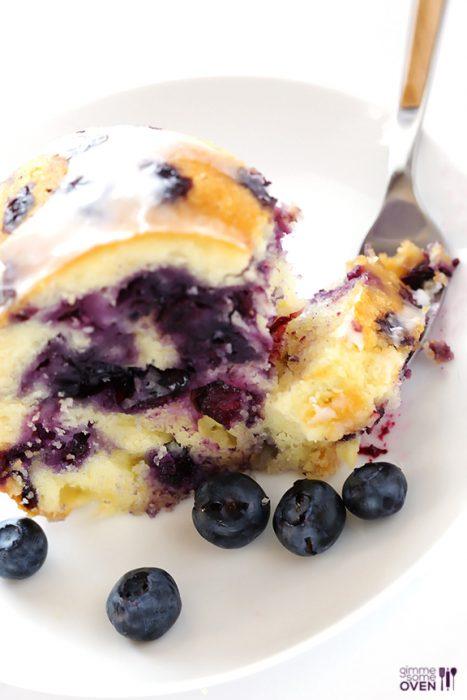 Glazed Blueberry Cake