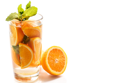 Boost your metabolism: Citrus fruits and mint infused water