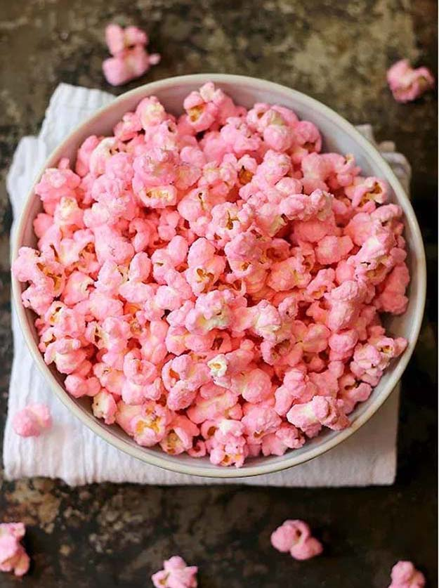 Old Fashioned Pink Popcorn | 10 Pretty in Pink Food Recipes