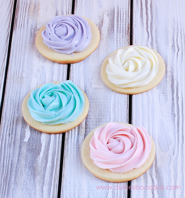 Rose Frosted Sugar Cookies