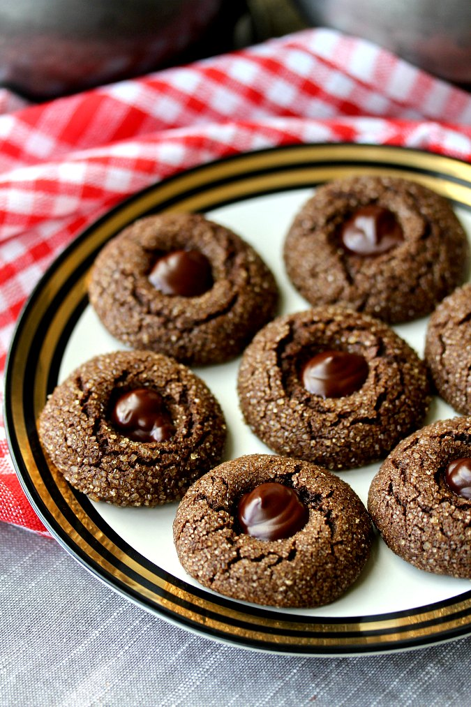 Spiced Chocolate Molasses Cookies