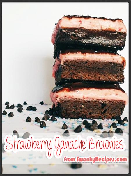 Strawberry Ganache Brownies