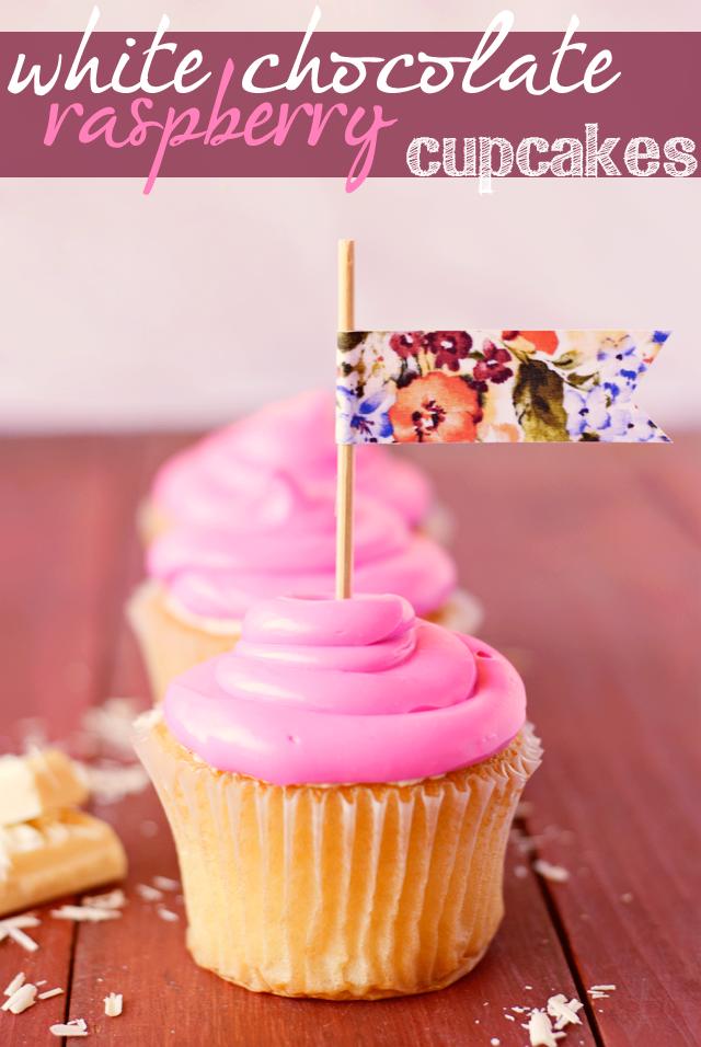 Three in Three: White Chocolate Raspberry Cupcakes With Mascarpone Frosting