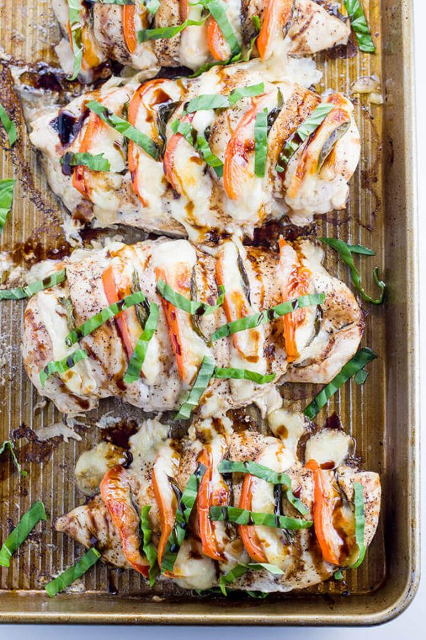 Caprese Hasselback Chicken is an easy low carb dinner and perfect for any keto diet.