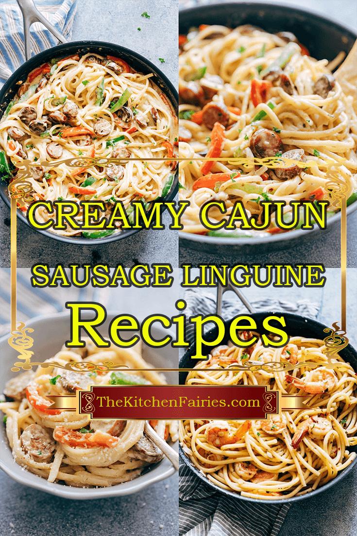 Creamy Cajun Sausage Linguine