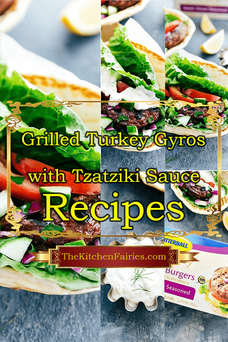 Grilled Turkey Gyros with Tzatziki Sauce