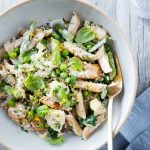 """Creamy"" Pasta Primavera with Chicken & Asparagus"