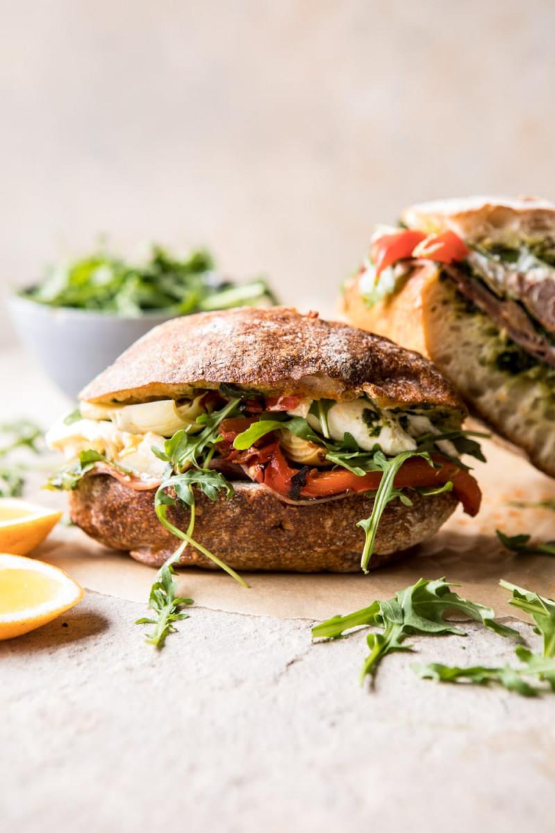Antipasto Mozzarella Sandwich with Lemon Pesto 1
