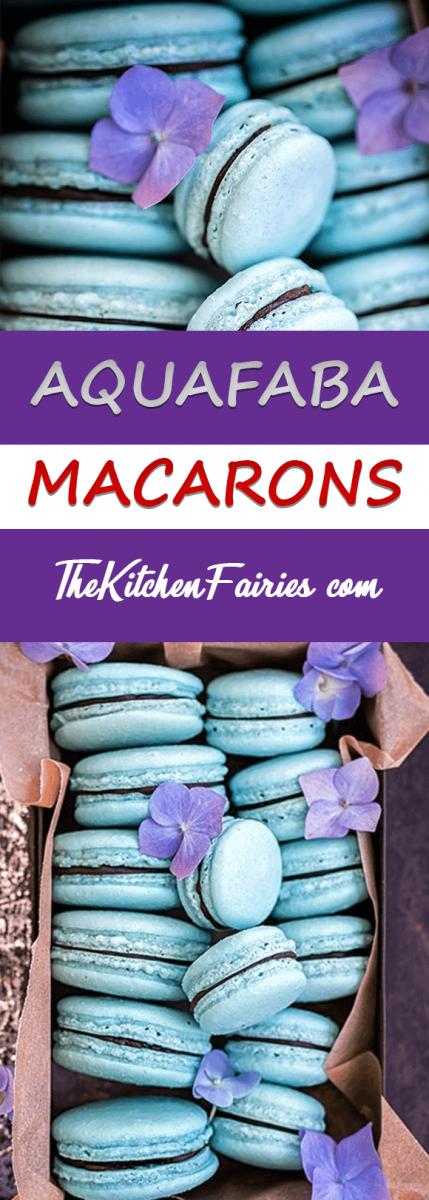 Aquafaba-Macarons