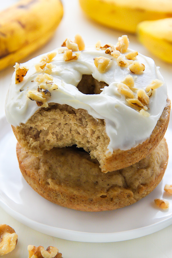 Banana Bread Donuts with Cream Cheese Frosting 1