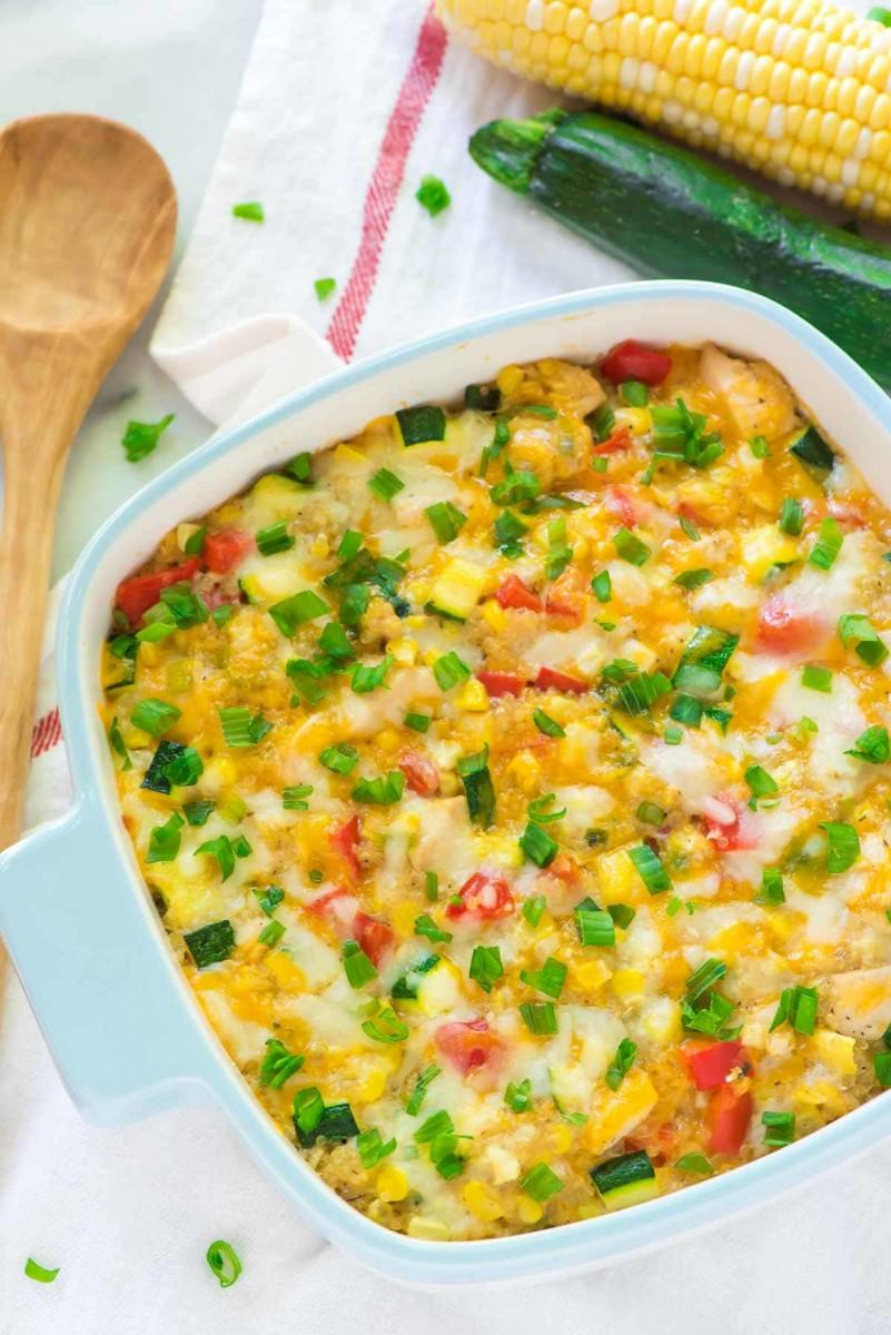 Cheesy Corn Quinoa Casserole 1