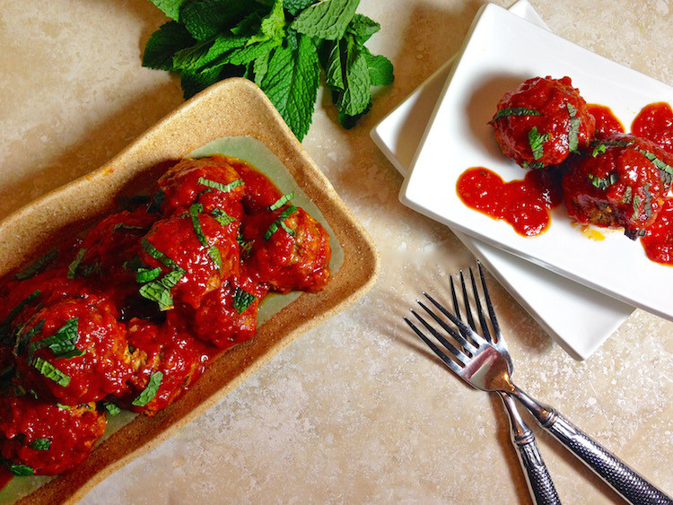 Chicken Meatballs with Marinara