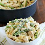 Creamy One-Pan Chicken Asparagus Pasta