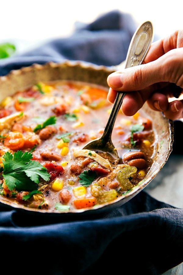Crockpot Chicken Veggie Quinoa Soup