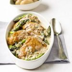 Flambéed Chicken With Asparagus