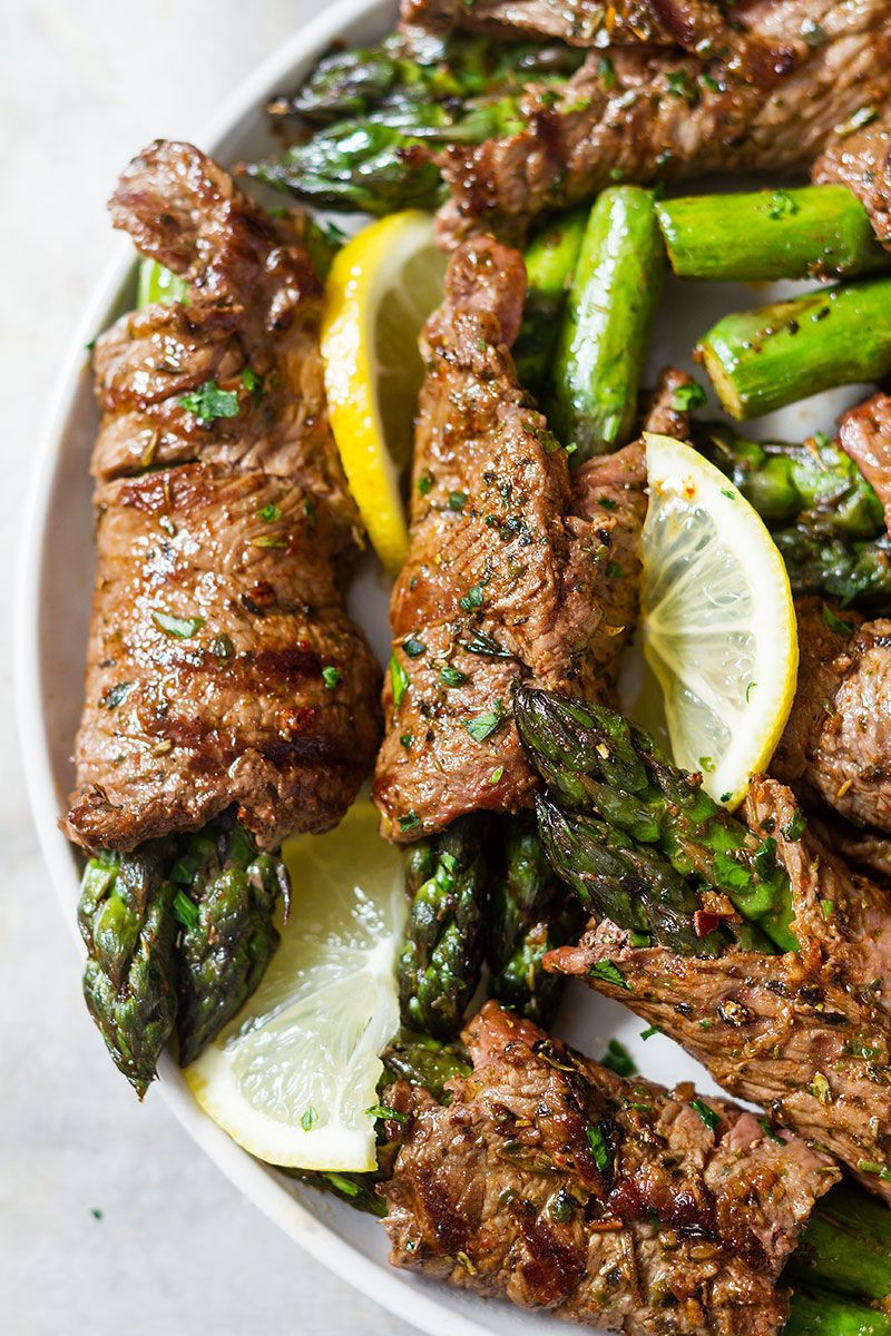 Grilled Asparagus & Steak Fajita Roll-Ups