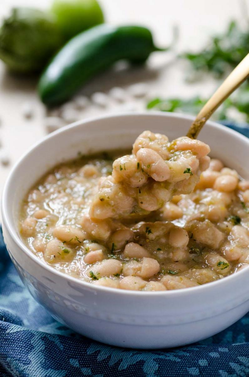 Instant Pot Poblano White Beans
