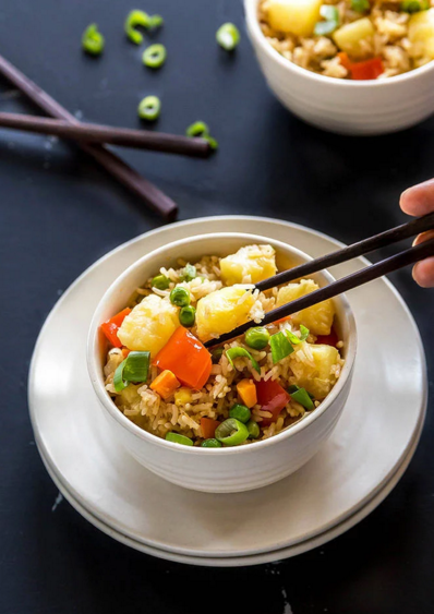 Instant Pot Vegan Pineapple Fried Rice