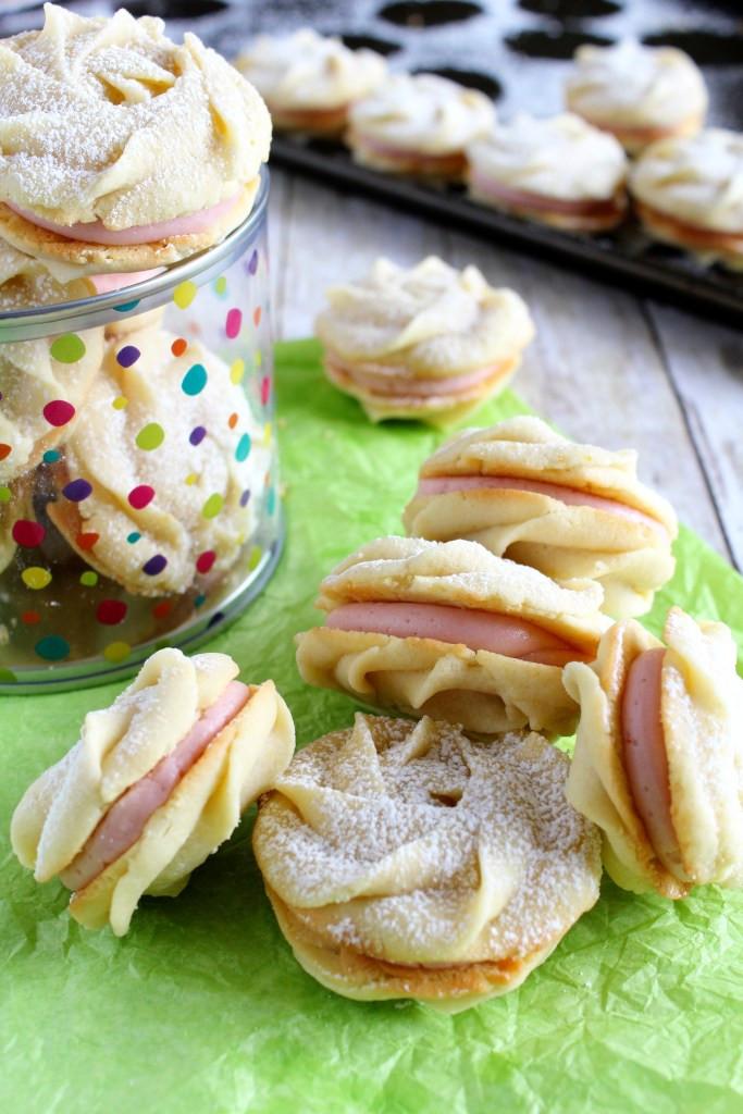 Lemon Raspberry Spritz Cookie