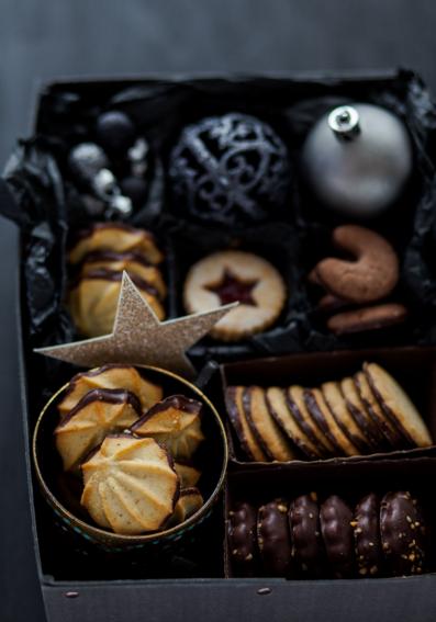 Lemon Scented Chocolate Spritz Cookies
