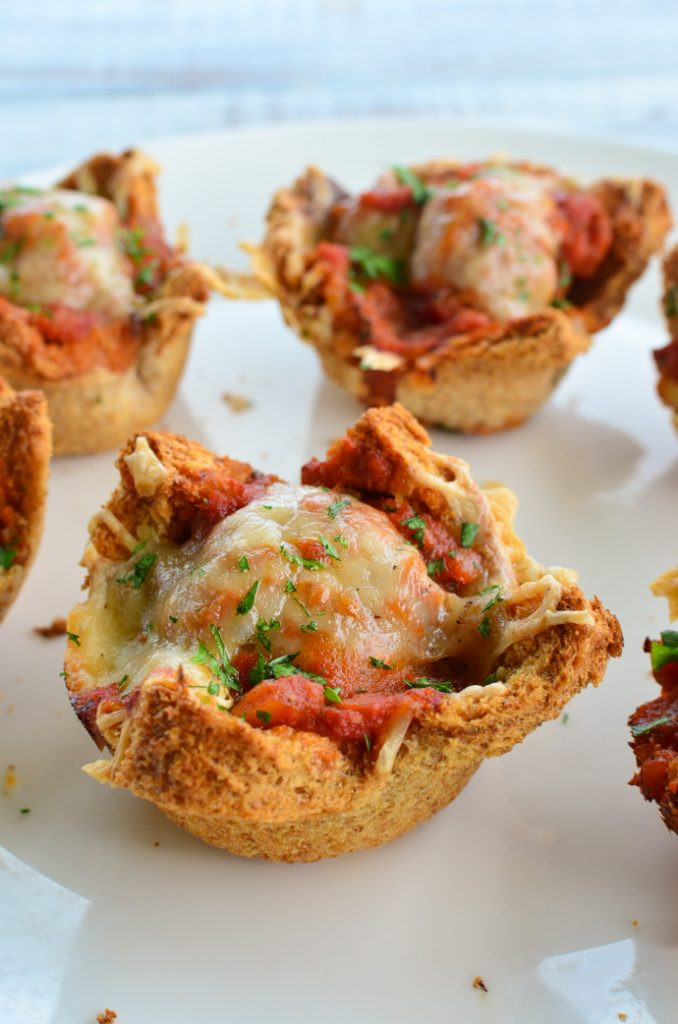 Meatball Marinara Cups