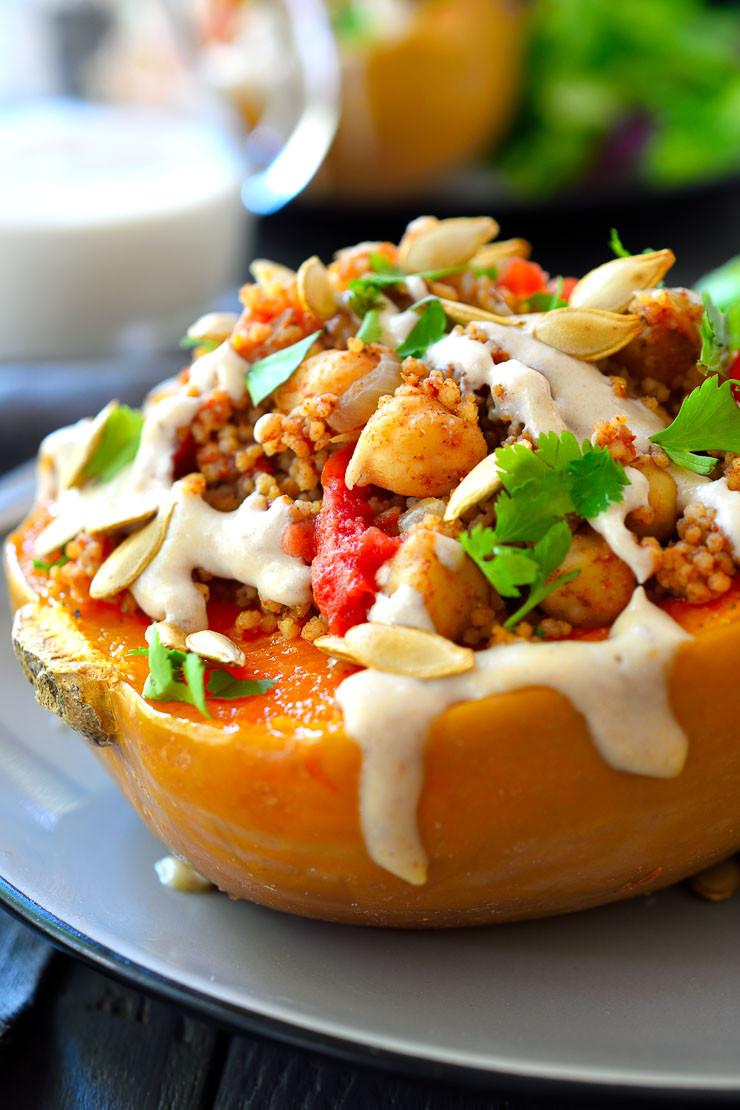 Moroccan-Spiced Vegan Stuffed Squash