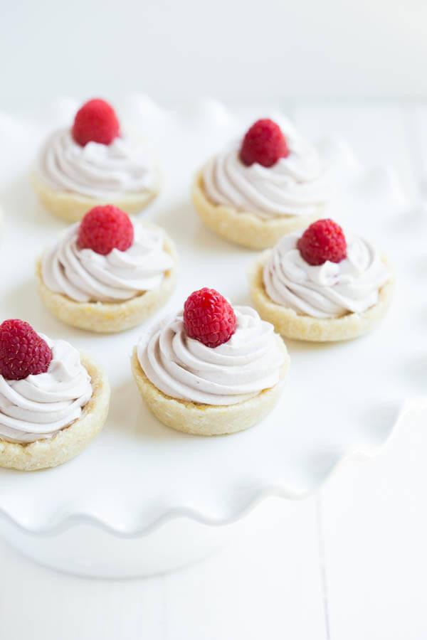 No Bake Raspberry Lemon Cookie Cups