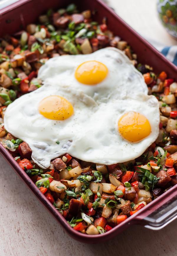 Potato Kielbasa Breakfast Hash 1