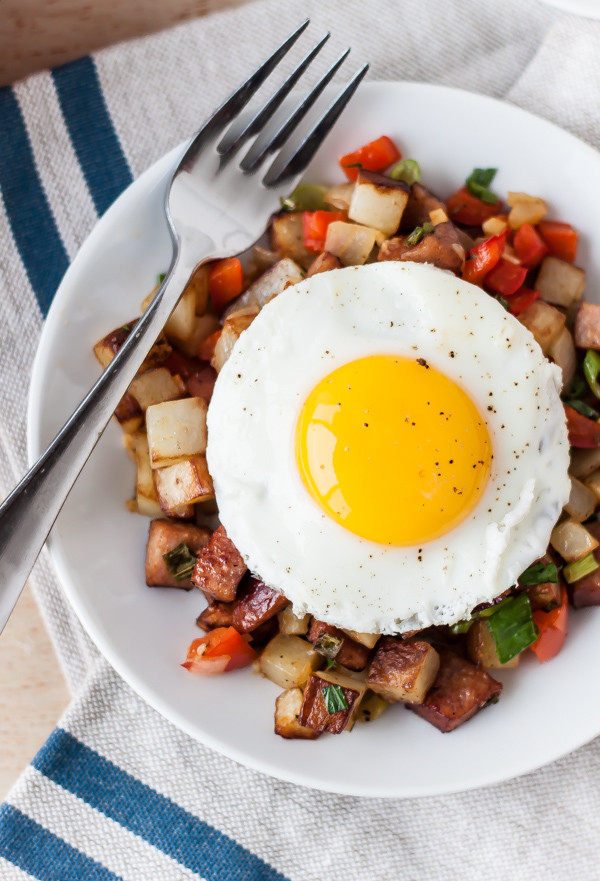 Potato Kielbasa Breakfast Hash 2