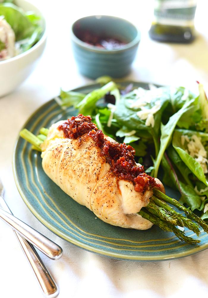 Prosciutto Asparagus Stuffed Chicken Breast 1