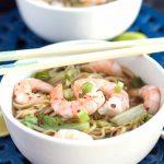 Quick Chinese Shrimp Noodle Soup