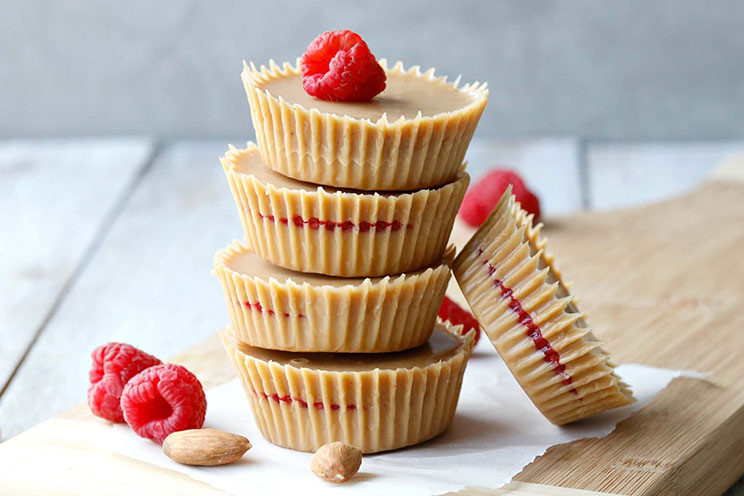 Raspberry Almond Cups