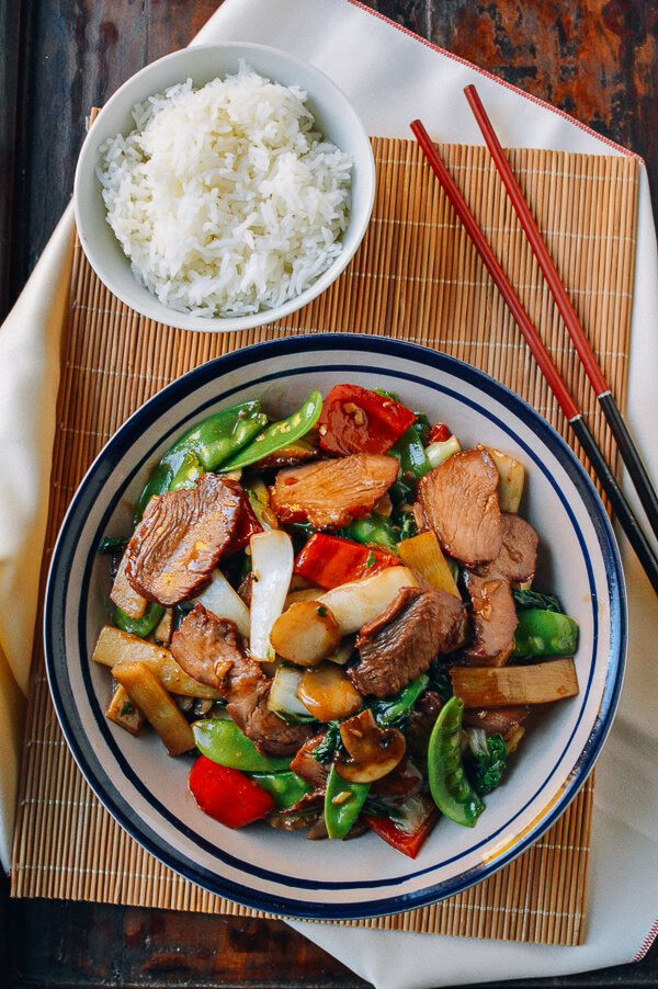 Roast Pork with Chinese Vegetables 2