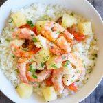 Sheet Pan Pineapple Shrimp