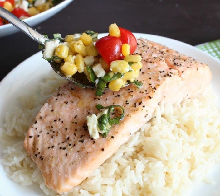 Simple Roasted Salmon