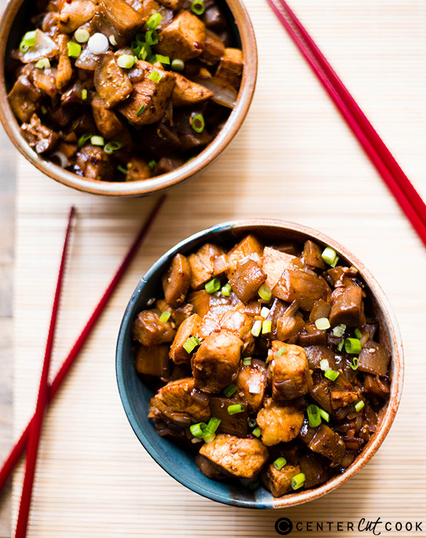 Spicy Chicken and Eggplant Stir Fry