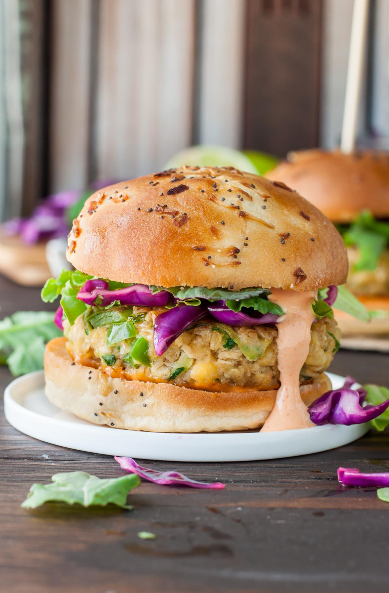 Spicy Chickpea Veggie Burgers With Jalapeño And Zucchini 1