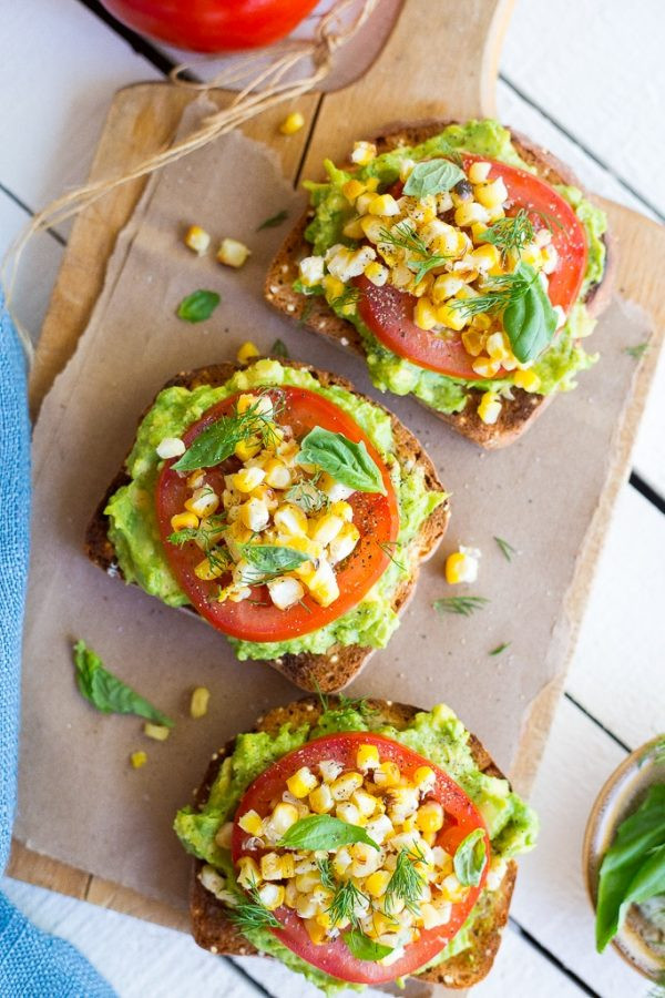 Summer Avocado Toast with Grilled Corn 1