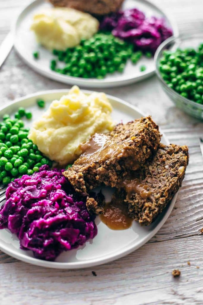 Vegan Meatloaf with Gravy