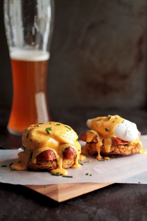Eggs Benedict Recipes - Cajun Eggs Benedict - Best Benedicts and Recipe Ideas for Breakfast, Brunch and Lunch - Easy and Quick Eggs Benedict, Classic, Salmon, Vegetarian and Healthy Variations - How to Make Hollandaise Sauce - Pioneer Woman Favorites - Eggs Benedict Casserole for A Crowd http://diyjoy.com/eggs-benedict-recipes