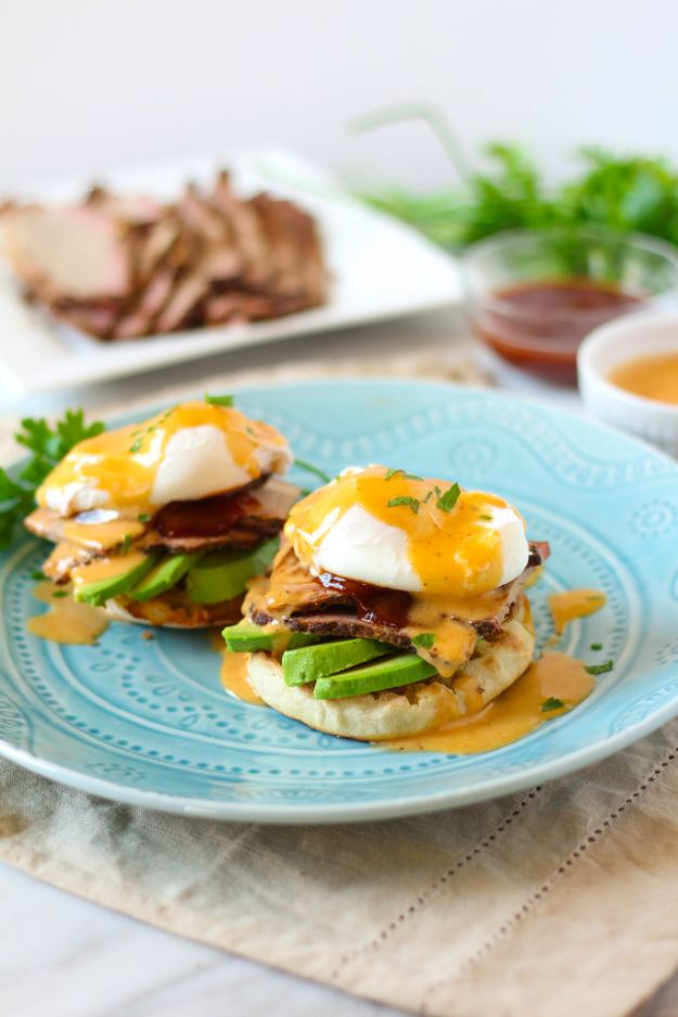 Eggs Benedict Recipes - BBQ Brisket Eggs Benedict - Best Benedicts and Recipe Ideas for Breakfast, Brunch and Lunch - Easy and Quick Eggs Benedict, Classic, Salmon, Vegetarian and Healthy Variations - How to Make Hollandaise Sauce - Pioneer Woman Favorites - Eggs Benedict Casserole for A Crowd http://diyjoy.com/eggs-benedict-recipes