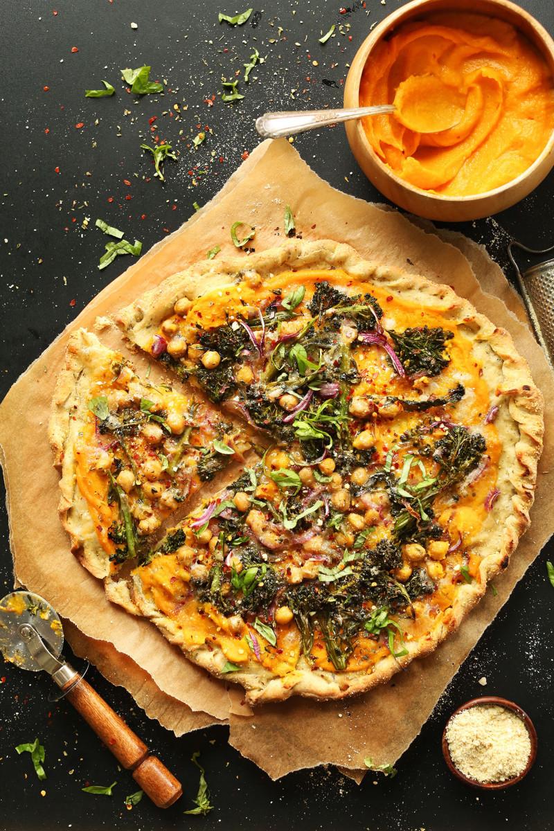 Butternut Squash Veggie Pizza 1