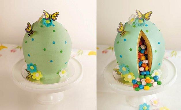 Easter Egg Surprise Inside Cake