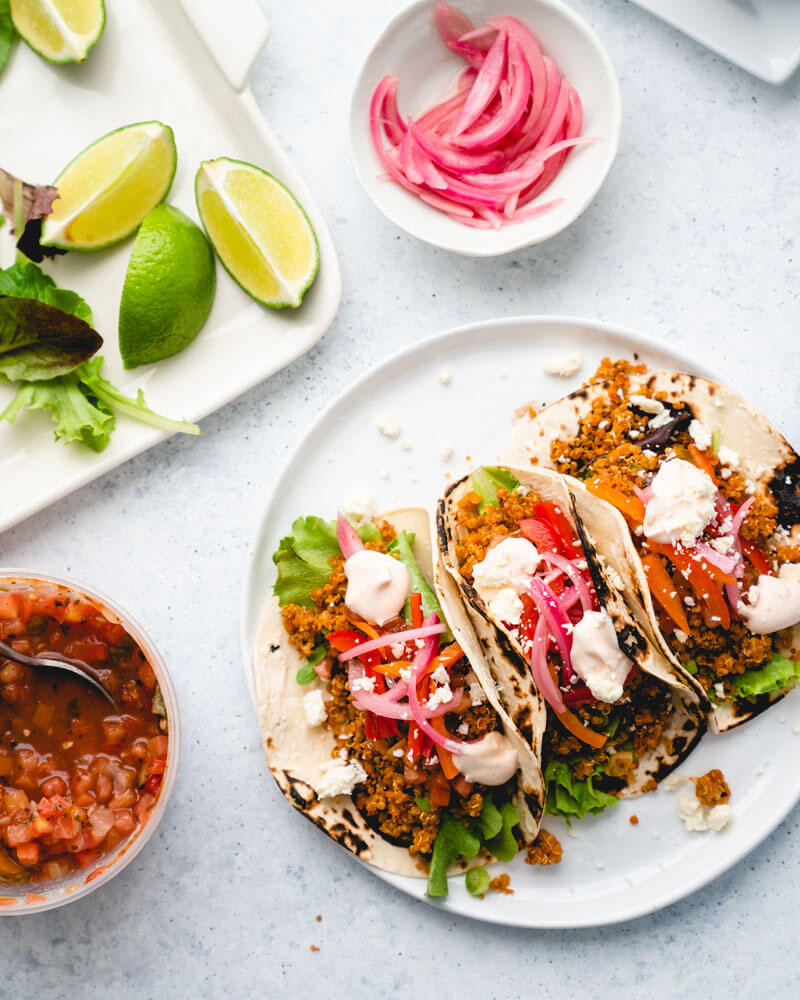 Healthy Loaded Quinoa Tacos