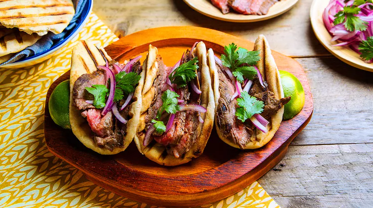 Indian Flank Steak Tacos