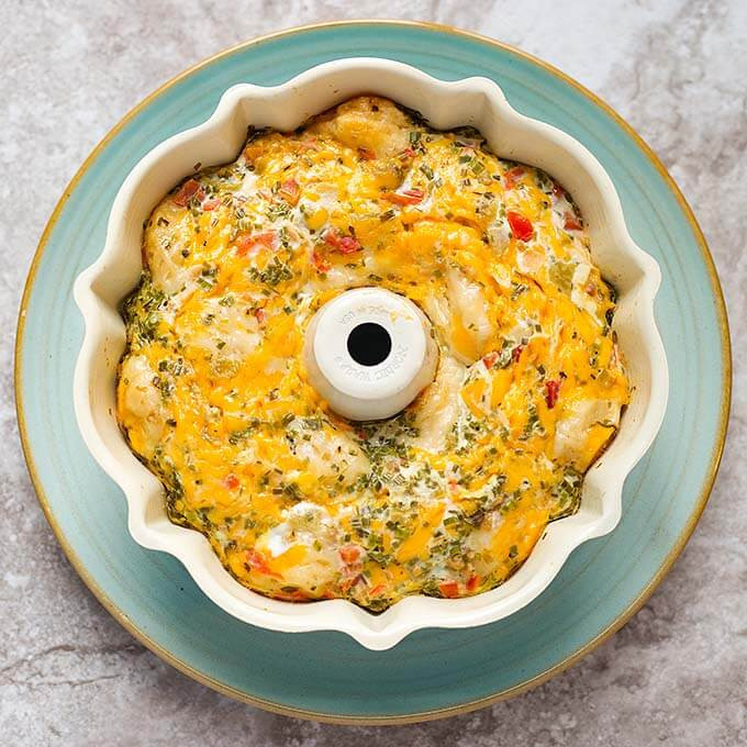 Instant Pot Southwest Biscuit Egg Bake