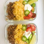 Keto Meal Prep Ground Beef Taco Salad