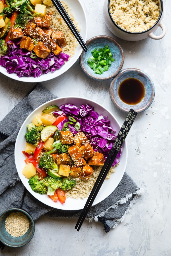 Korean Barbecue Tofu Meal Prep Bowls 1