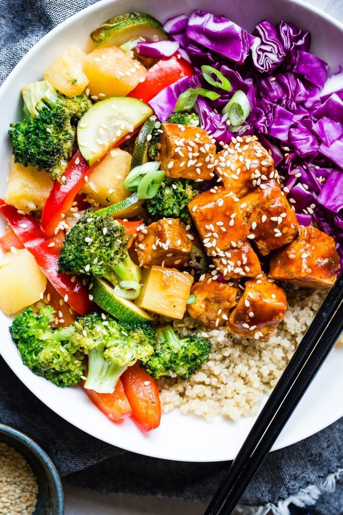 Korean Barbecue Tofu Meal Prep Bowls